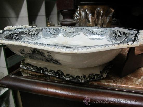 Antigüedades: legumbrera de ceramica de cartagena siglo 19 - Foto 6 - 33984433