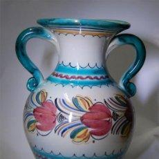 Antigüedades: JARRÓN VASIJA ANTIGUO DE CERÁMICA DE PUENTE DEL ARZOBISPO. Lote 33988932