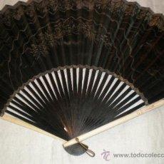 Antigüedades: ABANICO DE MADERA Y HUESO CHINO. Lote 34011494
