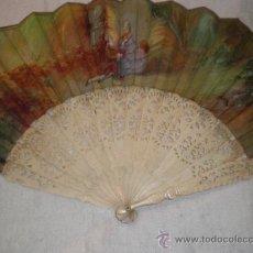 Antigüedades: ABANICO DE HUESO. Lote 34011574