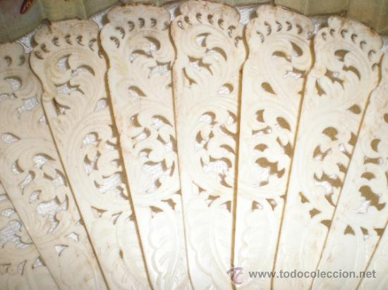 Antigüedades: abanico de hueso - Foto 3 - 34011574