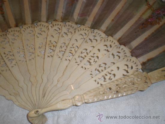 Antigüedades: abanico de hueso - Foto 5 - 34011574