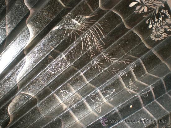 Antigüedades: abanico de madera y hueso chino - Foto 2 - 34011494