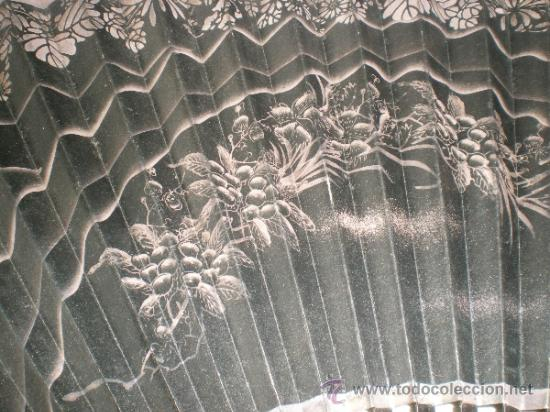 Antigüedades: abanico de madera y hueso chino - Foto 3 - 34011494