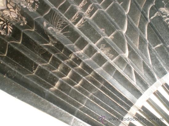 Antigüedades: abanico de madera y hueso chino - Foto 4 - 34011494