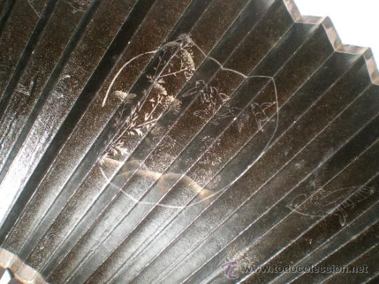 Antigüedades: abanico de madera y hueso chino - Foto 6 - 34011494