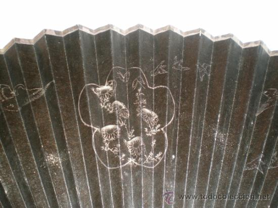Antigüedades: abanico de madera y hueso chino - Foto 8 - 34011494
