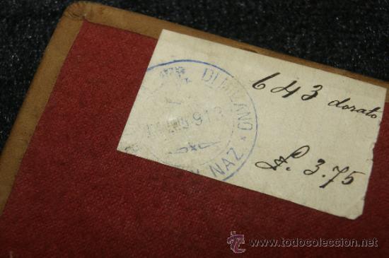 Antigüedades: Antigua imagen religiosa en plata dorada sobre base, sello trasero Milan 1913 - Foto 3 - 34072496