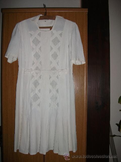 Antigüedades: Vestido de percal para jovencita - IMPECABLE - Años 25/30 - Foto 12 - 34026786