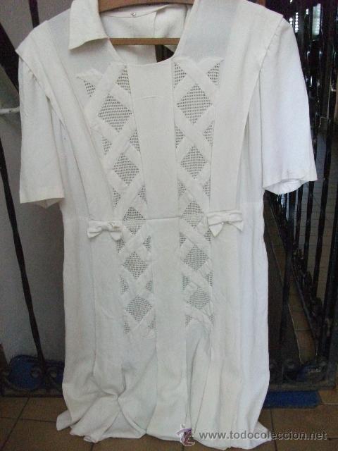 Antigüedades: Vestido de percal para jovencita - IMPECABLE - Años 25/30 - Foto 2 - 34026786