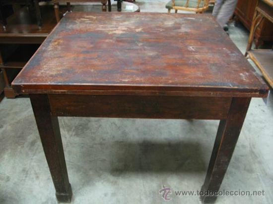 mesa antigua de madera desplegable, estilo rúst - Comprar Mesas ...