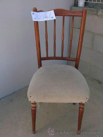 Silla antigua de madera con barrotes torneados comprar - Tapizado de sillas antiguas ...