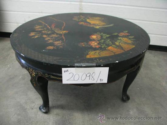 Mesa de centro muy antigua madera negra con orn comprar - Mesas de centro antiguas ...