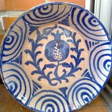 Antigüedades: ANTIGUA FUENTE DE FAJALAUZA PINTADA A MANO. Lote 34038406