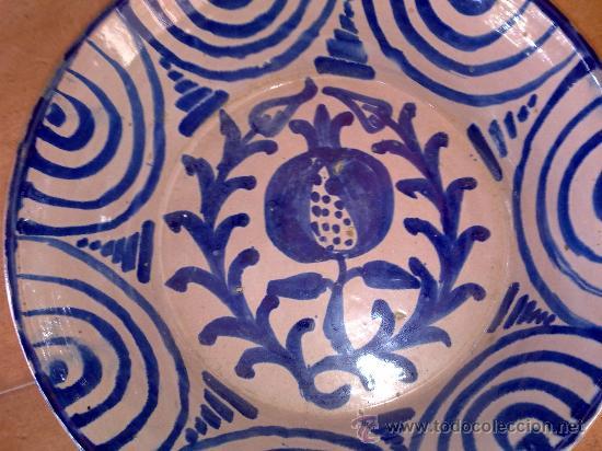 Antigüedades: antigua fuente de fajalauza pintada a mano - Foto 2 - 34038406