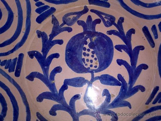 Antigüedades: antigua fuente de fajalauza pintada a mano - Foto 3 - 34038406
