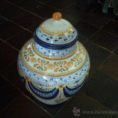 Antigüedades: GRAN ORZA DE CERÁMICA DE TALAVERA. 45 CM. MARCAS EN LA BASE. SIGLO XX.. Lote 34042506