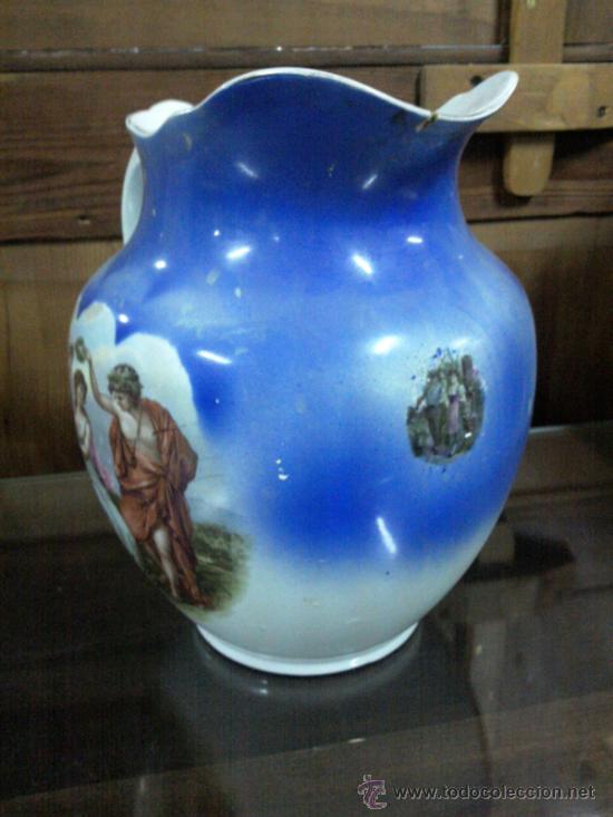 Antigüedades: Antigua jarra con marca de San Juan de Aznalfarache - Foto 10 - 34052292