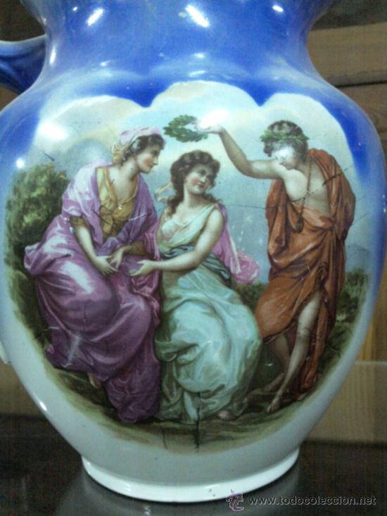 Antigüedades: Antigua jarra con marca de San Juan de Aznalfarache - Foto 7 - 34052292