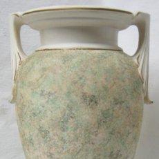 Antigüedades: 33 CM - BELLO BUCARO ITALIANO . CERAMICA BASSANO . TEXTURAS . SELLO ESTAMPADO - PERFECTO. Lote 34054572