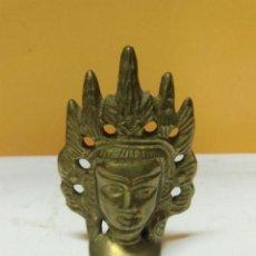 Antigüedades: PIEZA DE METAL, BUSTO DE DIOSA. Lote 34054794