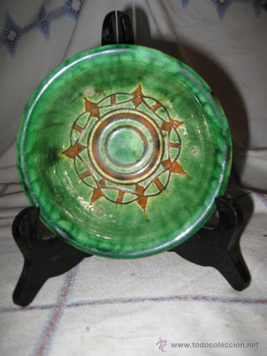 CUENCO VIDRIADO, CERAMICA GONGORA, DE UBEDA ( JAEN ) (Antigüedades - Porcelanas y Cerámicas - Úbeda)