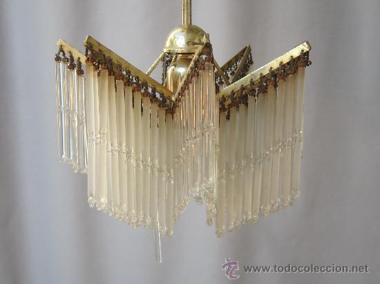 Antigüedades: LAMPARA DE TECHO CON CHORRILLOS - Foto 3 - 34070977