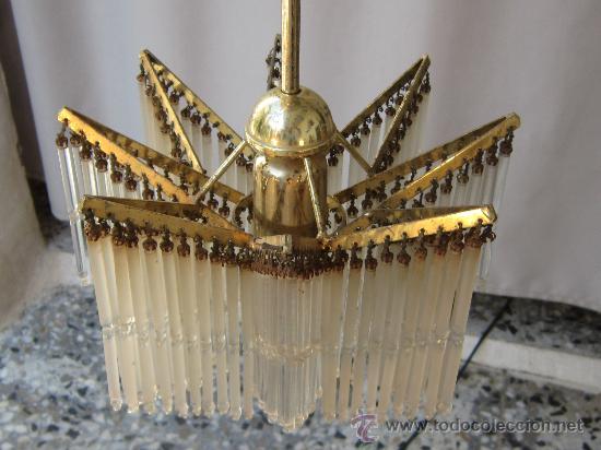Antigüedades: LAMPARA DE TECHO CON CHORRILLOS - Foto 4 - 34070977