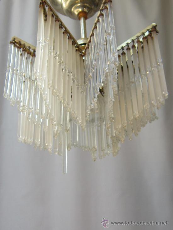 Antigüedades: LAMPARA DE TECHO CON CHORRILLOS - Foto 5 - 34070977