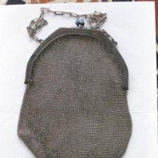 Antigüedades: EXTRAORDINARIO MONEDERO DE REJILLA ART NOUVEAU. CIRCA 1900. ALPACA. Lote 34078511
