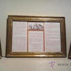 Antigüedades: JUEGO DE SACRAS EN BRONCE DORADO. 1920.. Lote 102990526