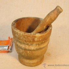 Antigüedades: MORTERO DE MADERA. Lote 34086437