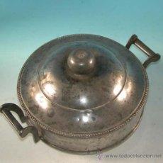 Antigüedades: SOPERA BIEDERMEIER DE ESTAÑO CON SELLO EN LA BASE. 1850-1880.. Lote 34091701
