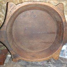 Antigüedades: CAZUELA PASTORIL DE MADERA MAS DE CIEN AÑOS. Lote 34094466