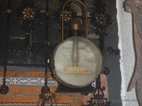 FAROL DE TREN DELANTERO MAQUINA DE VAPOR 75 CM DE ALTURA RENFE (Antigüedades - Iluminación - Faroles Antiguos)