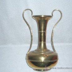 Antigüedades: FLORERO DE LATON . Lote 34097276