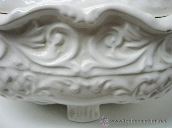 Antigüedades: Antigua gran Sopera valenciana Manises 34 CM - Viuda de Miguel Hernandez Cortes - Foto 3 - 34098983