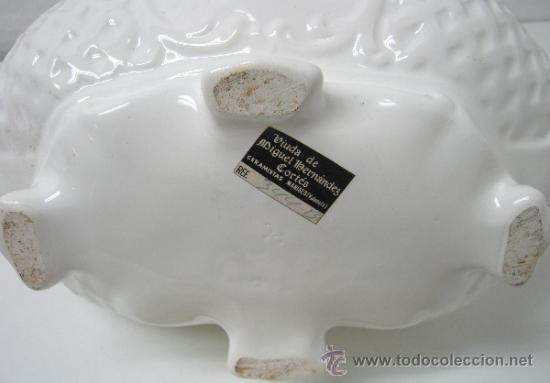 Antigüedades: Antigua gran Sopera valenciana Manises 34 CM - Viuda de Miguel Hernandez Cortes - Foto 6 - 34098983