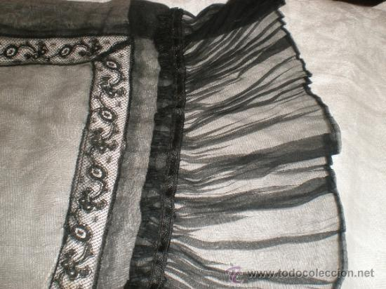 Antigüedades: MANTILLA NEGRA ANTIGUA - Foto 16 - 34089028