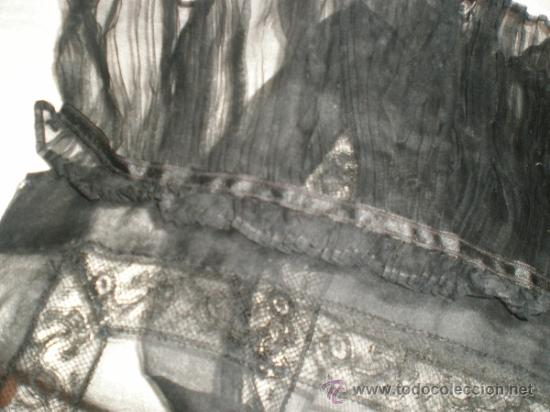 Antigüedades: MANTILLA NEGRA ANTIGUA - Foto 10 - 34089028