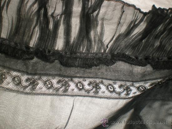 Antigüedades: MANTILLA NEGRA ANTIGUA - Foto 4 - 34089028