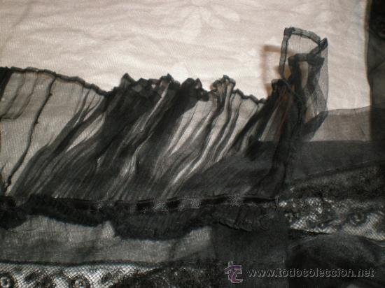 Antigüedades: MANTILLA NEGRA ANTIGUA - Foto 9 - 34089028