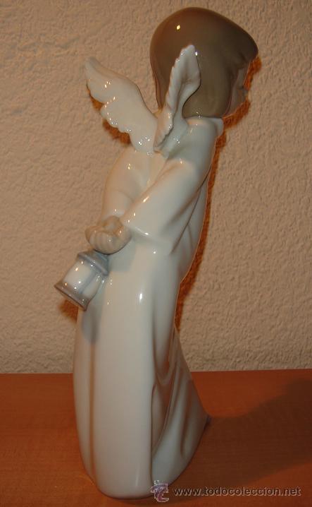 Antigüedades: LLADRO. FIGURA DE PORCELANA ANGEL FAROLERO. DESCATALOGADA. - Foto 3 - 34101959