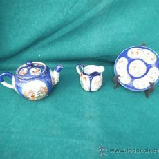 Antigüedades: TETERA,PLATO Y JARRA ORIENTAL. Lote 34102269