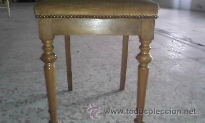 Antigüedades: Antigua silla de roble con tapizado de terciopelo en color mostaza.Madera torneada.. - Foto 2 - 36881399