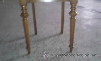Antigüedades: Antigua silla de roble con tapizado de terciopelo en color mostaza.Madera torneada.. - Foto 3 - 36881399