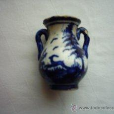 Antigüedades: ANTIGUA ORZA DE CERÁMICA DE ANDÚJAR, JAÉN. 9 CM. . Lote 34113127