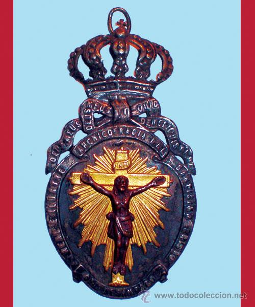 REAL ARCHICOFRADIA DEL SANTISIMO CRISTO DEL DESAMPARO. MEDALLA GRANDE 9,5 CM. DE ALTURA.. (Antigüedades - Religiosas - Medallas Antiguas)