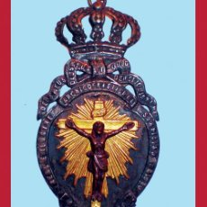 Antigüedades: REAL ARCHICOFRADIA DEL SANTISIMO CRISTO DEL DESAMPARO. MEDALLA GRANDE 9,5 CM. DE ALTURA... Lote 34116145