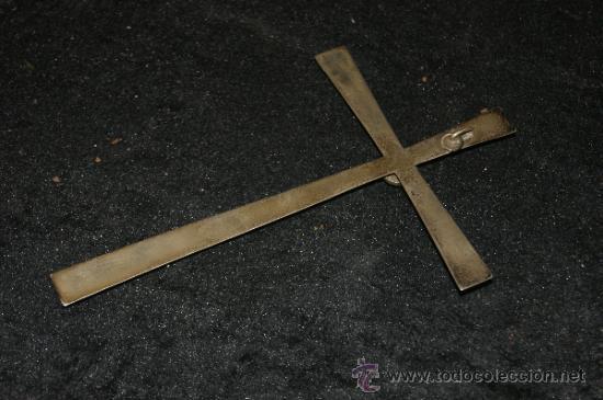 Antigüedades: Bonita cruz en plata y pedreria. Antigua. - Foto 3 - 216641233